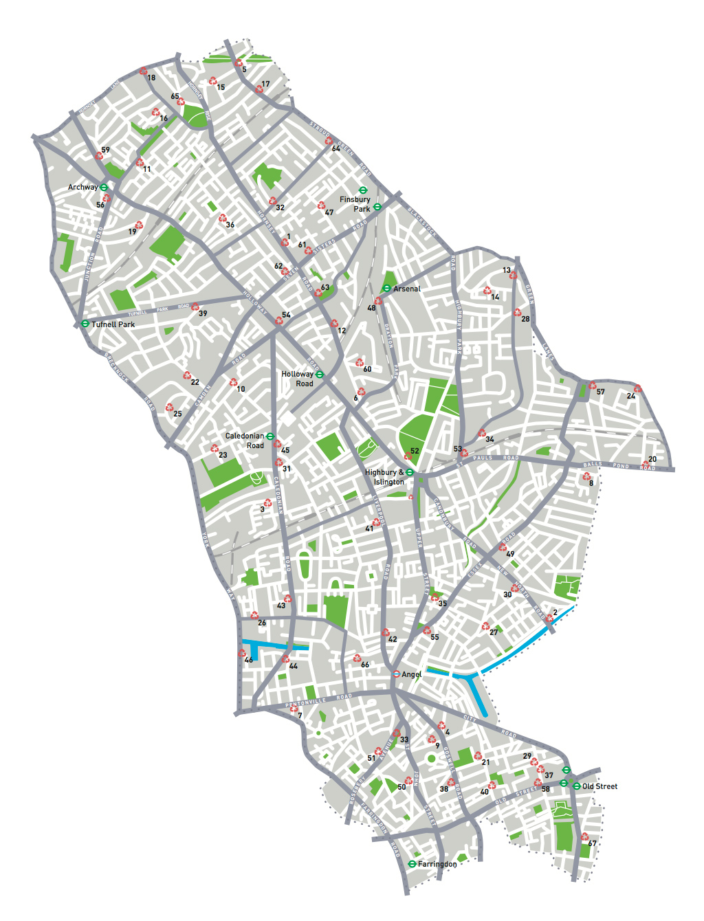Islington Recycling Map Richard Guest