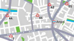 Islington Recycling Map